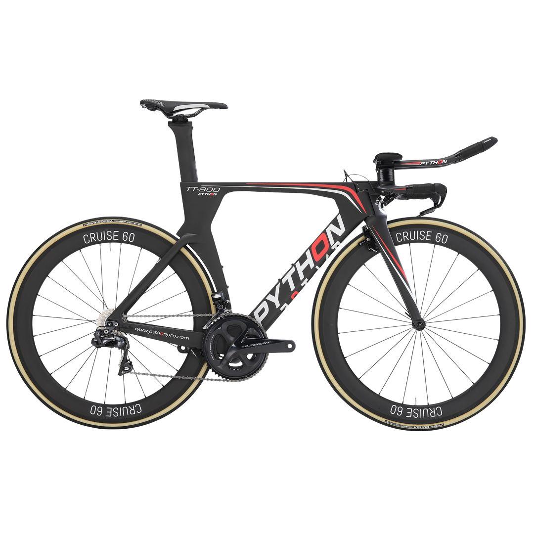 Python TT900 TimeTrial/Tri cykel. Komplet Ultegra 8050 Di2. STEALTH 38 carbon hjulsæt. | Tri og enkeltstart