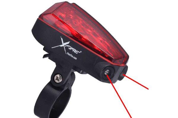 Xfire Bikelane baglygte med laserlys | Rear lights